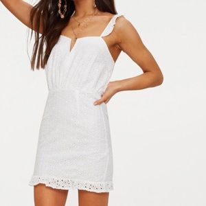 prettylittlething // lace petite bodycon dress